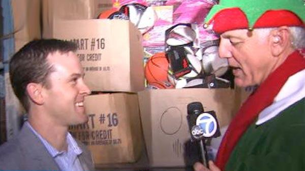 Mathis Brothers donates truck full of toys