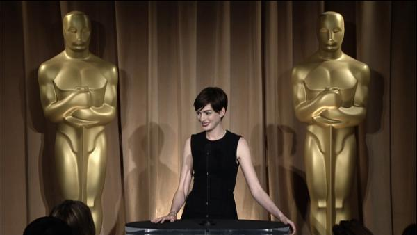 OTRC: Anne Hathaway talks Oscar fashion, awards season stress