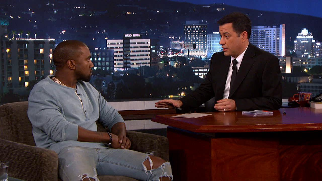 Rapper Kanye West appeared on ABCs Jimmy Kimmel Live Wednesday, Oct. 9, 2013.