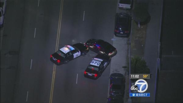 Wild car chase ends at USC parking structure