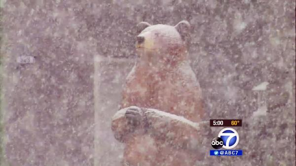 Big Bear snowstorm marks ski, holiday season