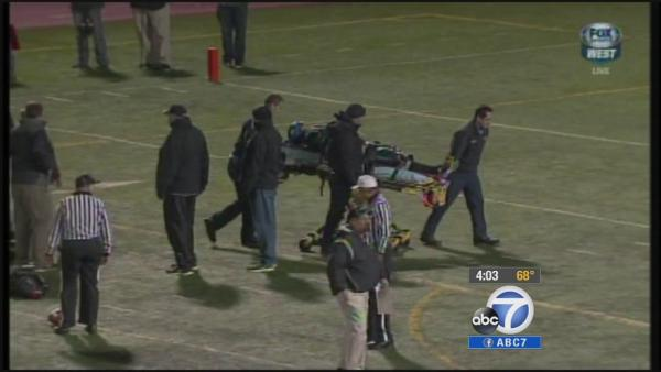Football spine injury hospitalizes IE student