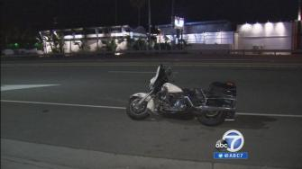 An LAPD motorcycle officer was struck by a hit-and-run driver at Sunset and PCH Wednesday night.