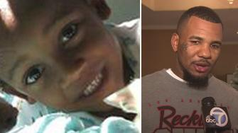 Left: Taalib Pecantte, 7, is seen in an undated photo. Right: The Game talks to Eyewitness News on Wednesday, Dec. 4, 2013.