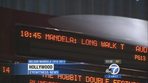 Moviegoers see Mandela film in his honor