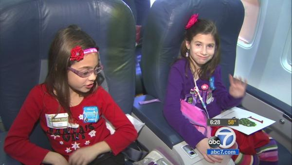 Young patients travel from LA to 'North Pole'