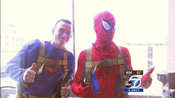 Superheroes visit Children's Hospital LA kids