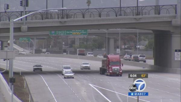 I-215 widening project done in San Bernardino
