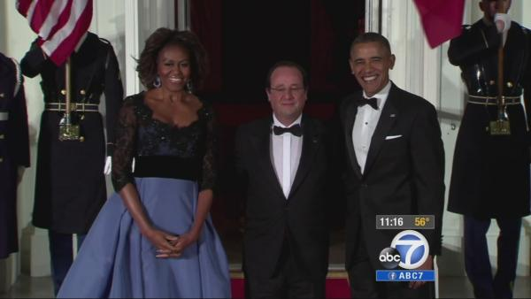 French president goes solo at WH state dinner
