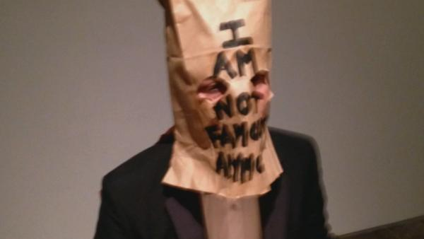 Shia LaBeouf cries, sits w/ paper bag on head