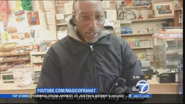 Homeless man 'wins' rigged lottery ticket