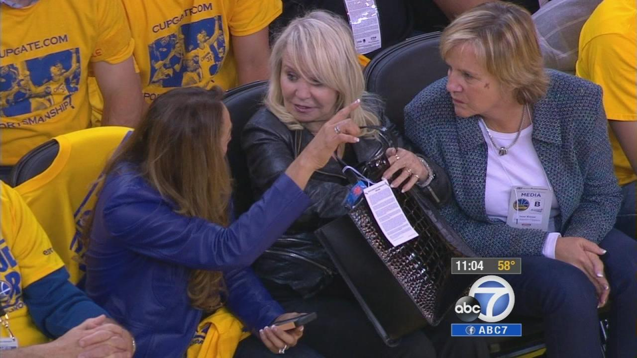 Shelly Sterling (center) is seen in an undated file photo.
