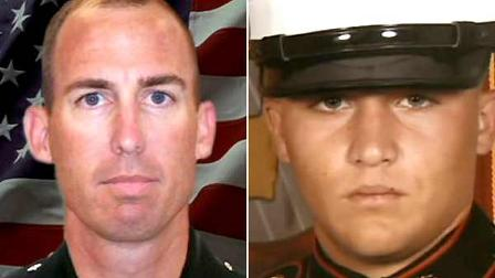 Sergeant Major Robert Cottle (left) and Lance Corporal Rick Centanni (right) were killed in Afghanistan by a roadside bomb