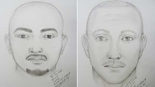 The Los Angeles Police Department released this sketch of two suspects believed to have attacked San Francisco Giants fan Bryan Stow on March 31 at Dodger Stadium on