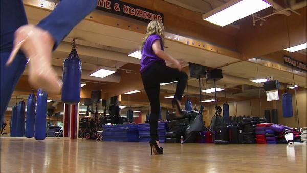 Stilettos Defense class for women in high heels