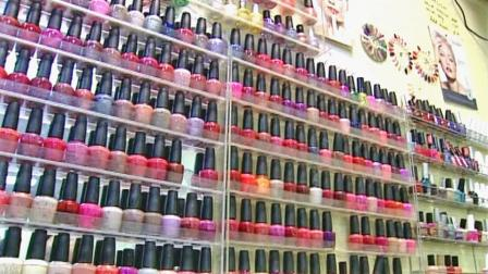 A nail polish display is seen in this file photo.