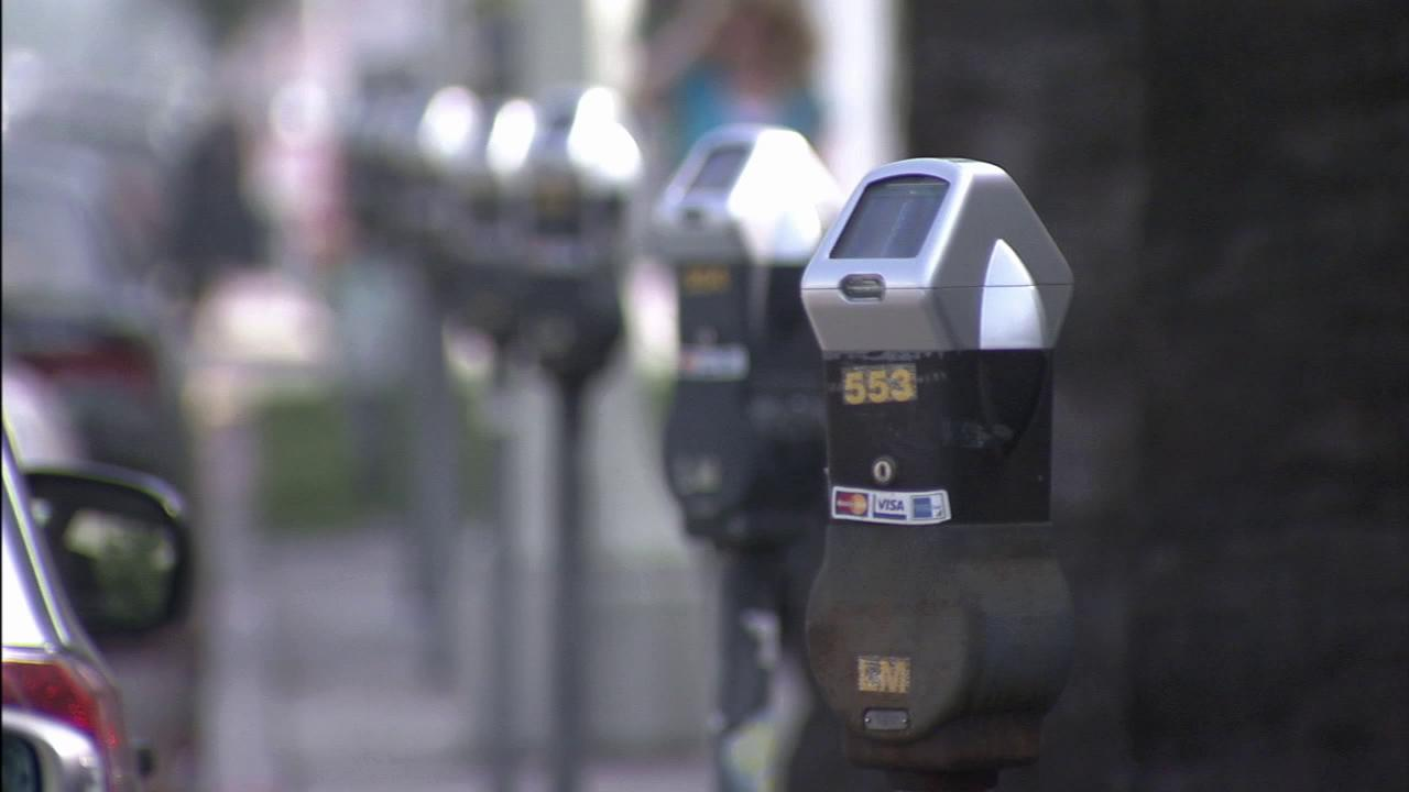 Parking meters are seen in this file photo.
