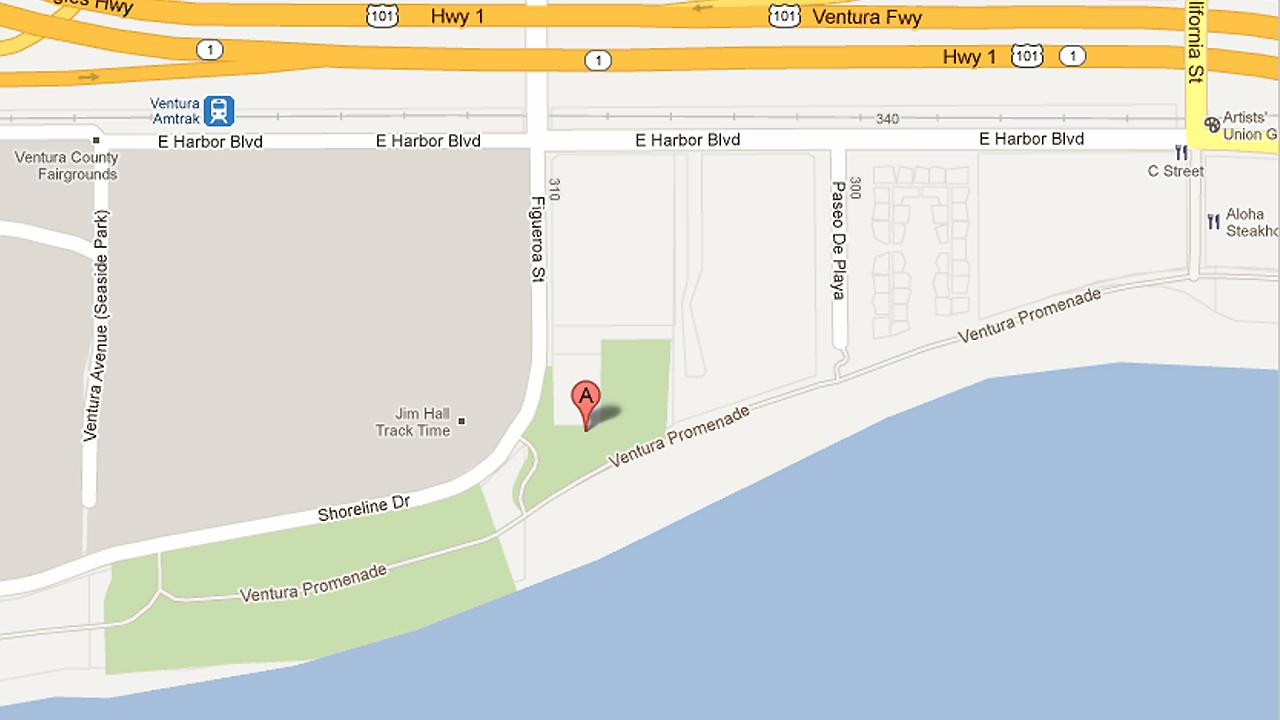 A map shows Promenade Park in Ventura.