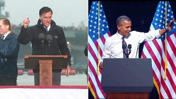 Romney shifts to foreign policy; Obama in CA