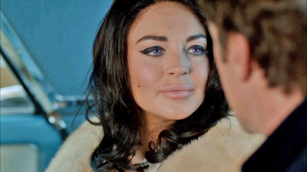 Lindsay Lohan is seen in a still from the Lifetime TV movie, Liz and Dick, in which she portrays Elizabeth Taylor.