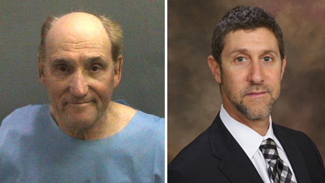 Stanwood Fred Elkus, 75, (left) was arrested on fatally shooting Dr. Ronald Gilbert, 52, inside the doctors medical building in Newport Beach on Monday, Jan. 28, 2013.