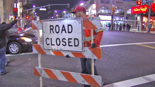 Hollywood road closures in effect for Oscars