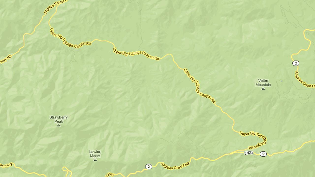 A map shows Angeles Crest Highway, Angeles Forest Highway and Big Tujunga Canyon Road.