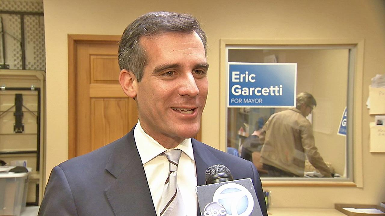 L.A. mayoral candidate Eric Garcetti is seen in this file photo from Friday, Feb. 22, 2013.
