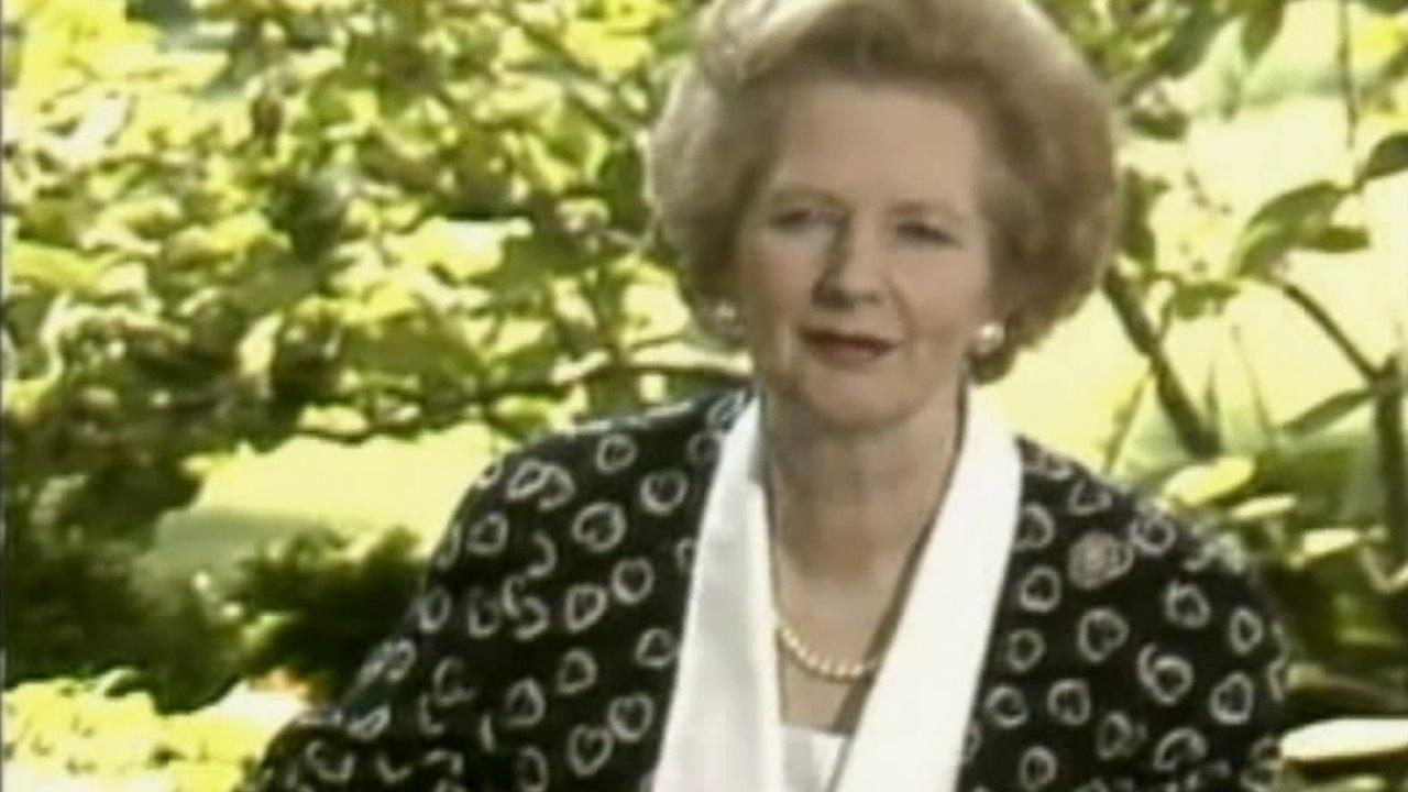 Former British Prime Minister Margaret Thatcher is seen in this undated file photo.