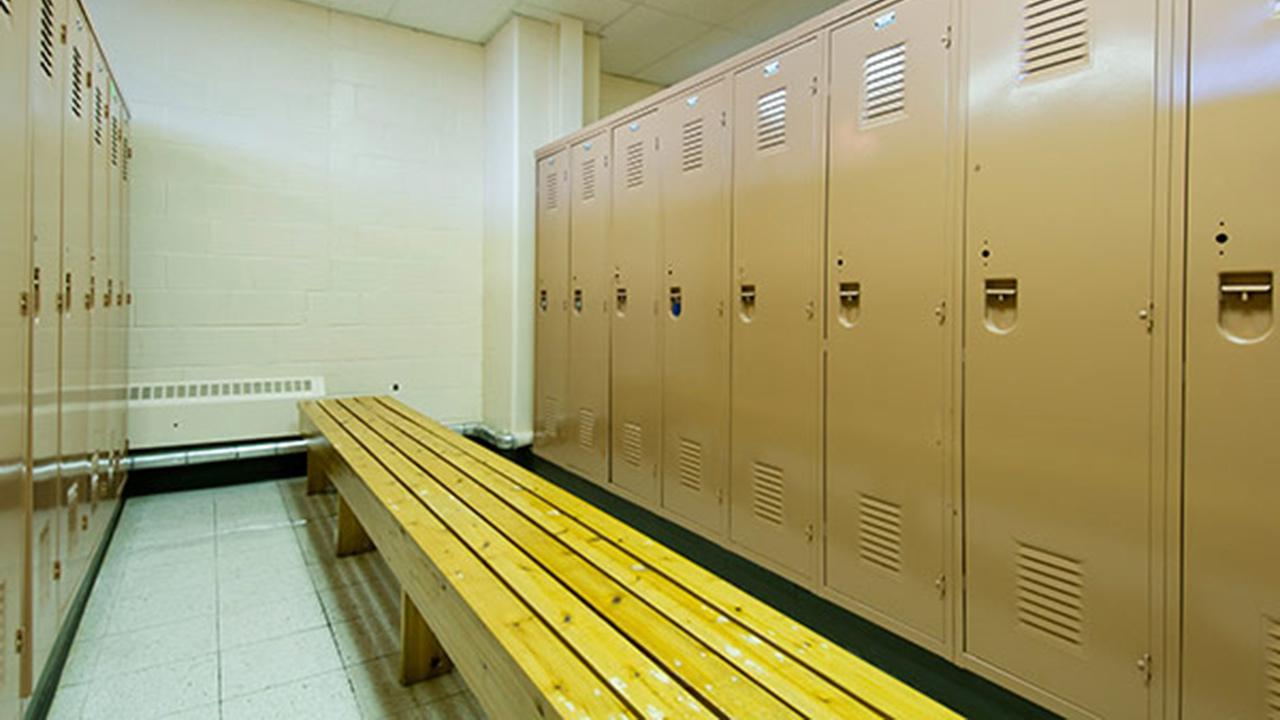 A locker room is shown in this undated file image.