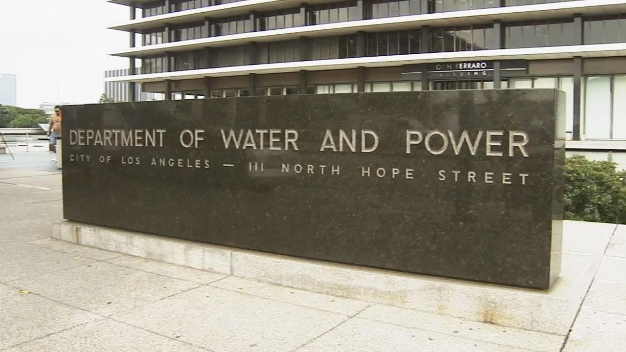 The Los Angeles Department of Water and Power is seen.