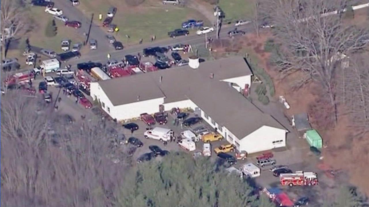 Sandy Hook Elementary School in Newtown, Conn., is seen.