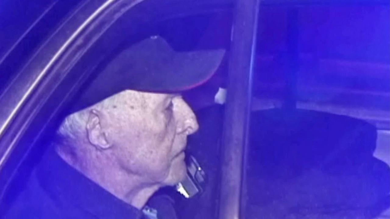 A 91-year-old man is seen after being pulled over by the CHP for driving the wrong way on the 14 Freeway Sunday, Nov. 10, 2013.