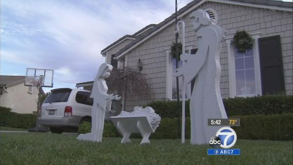 Stolen nativity scene returned to IE family