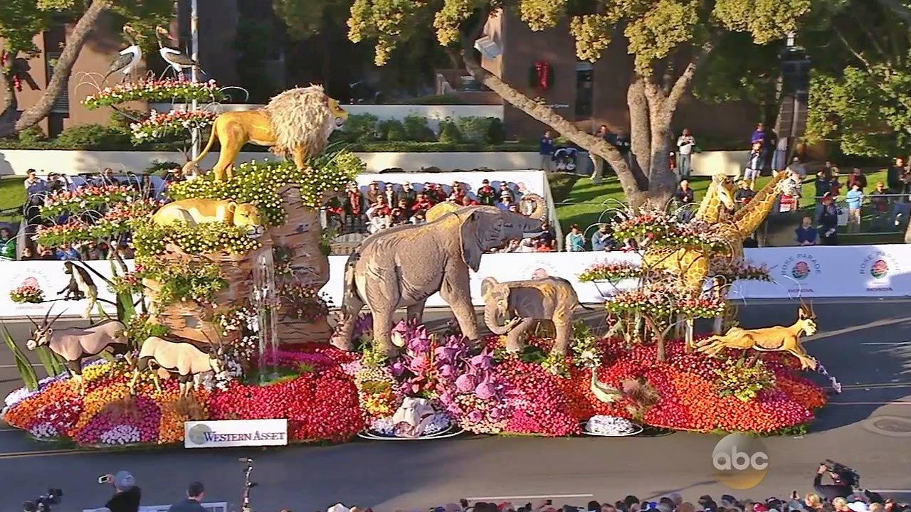 The Western Assets float is seen in the 2014 Rose Parade in Pasadena on Wednesday, Jan. 1, 2014.