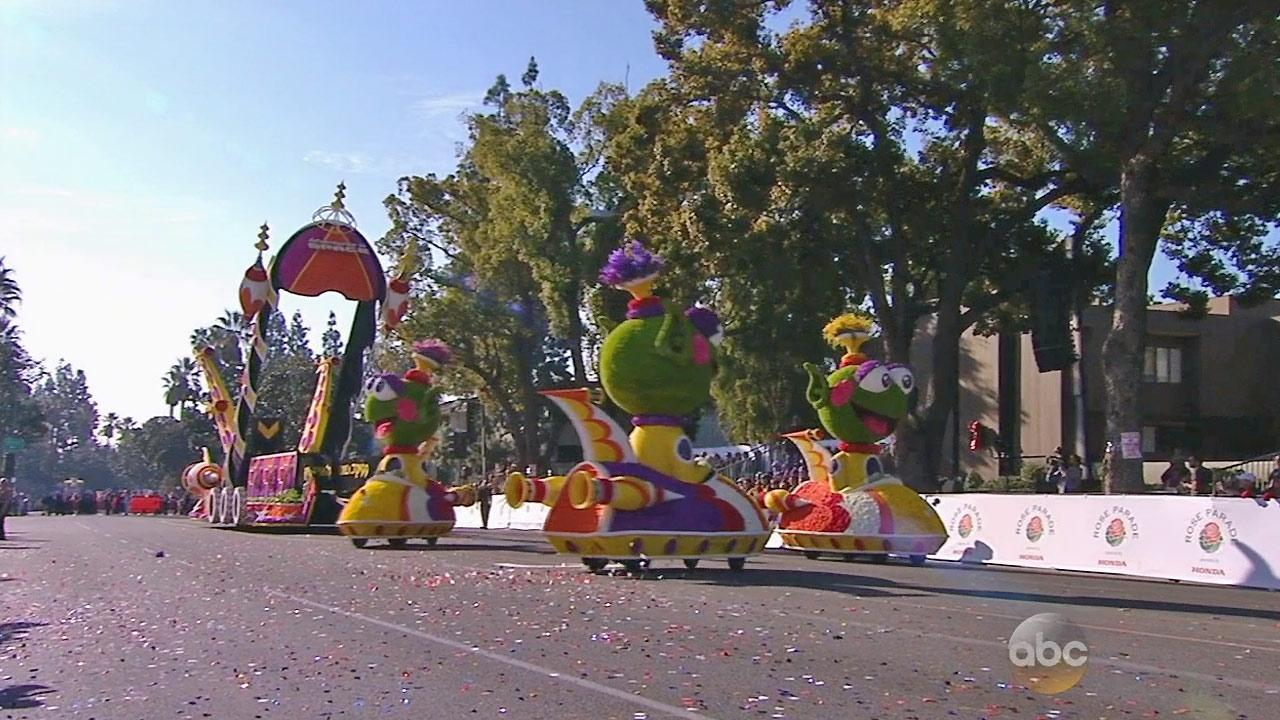 The Public Storage float is seen in the 2014 Rose Parade in Pasadena on Wednesday, Jan. 1, 2014.