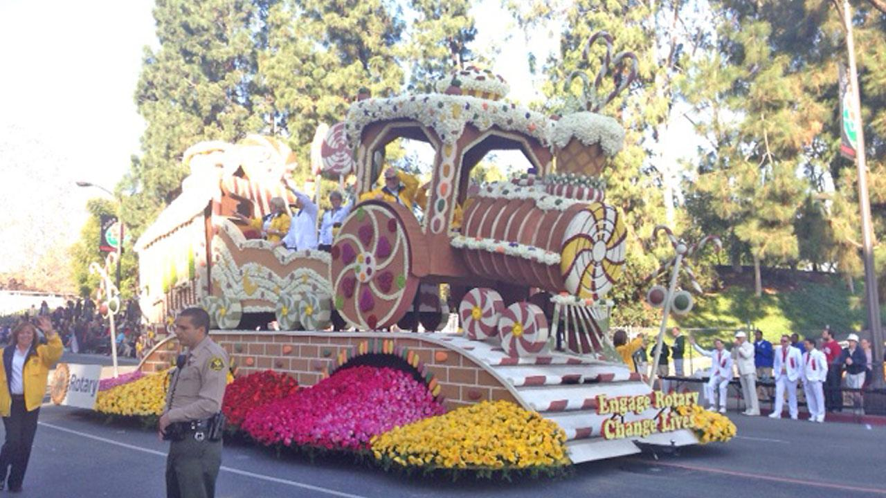 A float is seen in the 2014 Rose Parade in Pasadena on Wednesday, Jan. 1, 2014.