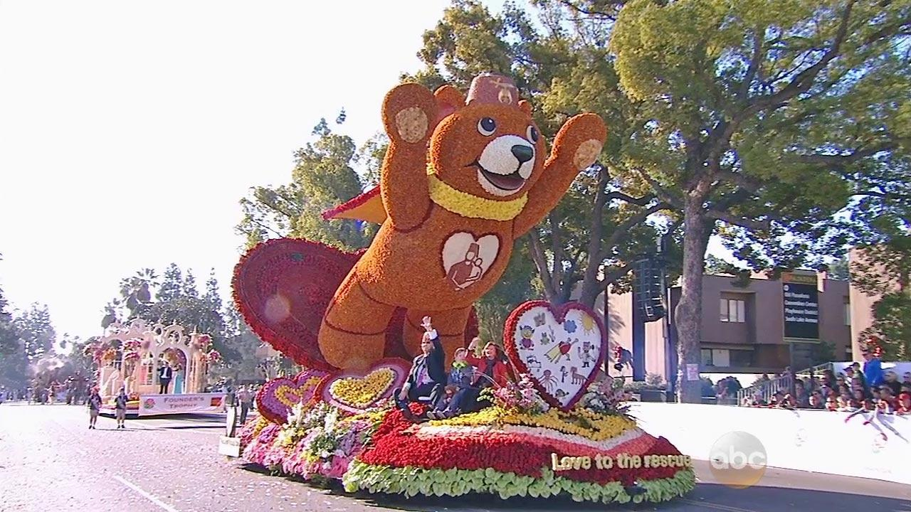 The float from Shriners Hospital for Children is seen in the 2014 Rose Parade in Pasadena on Wednesday, Jan. 1, 2014.