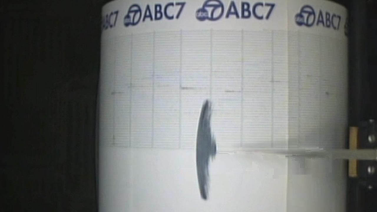 The ABC7 Quake Cam shows a 3.1-magnitude earthquake that struck near Rancho Cucamonga on Sunday, Feb. 2, 2014.