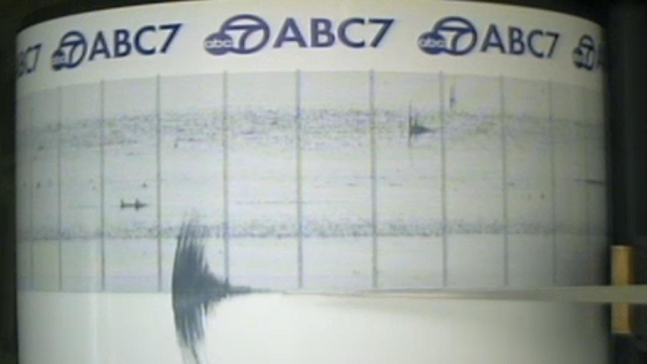 A still image from the ABC7 Quake Cam captures a 3.2-magnitude earthquake that hit Marina del Rey on Friday, March 7, 2014.