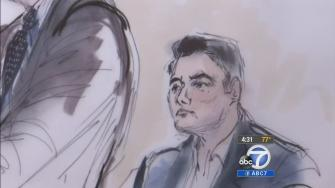 Opening statements began Tuesday, March 11, 2014 in the trial of a former couple accused of masterminding a bizarre bank robbery in East Los Angeles on Sept. 5, 2012.