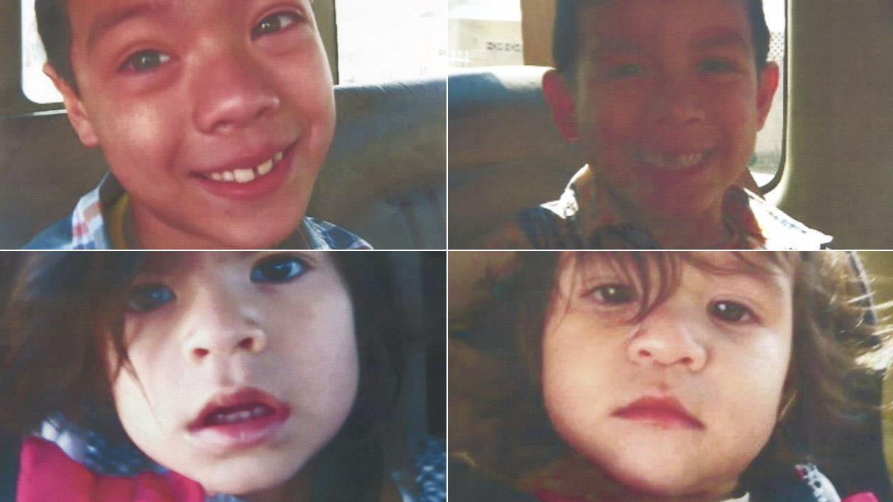 Four children who were abducted by their parents in Boyle Heights are seen in these undated file photos. An Amber Alert was issued Saturday, March 15, 2014.