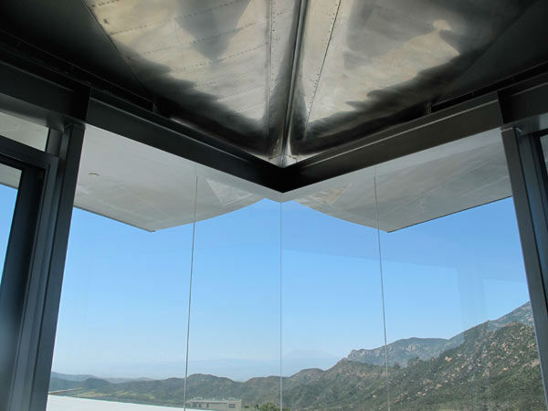 "<div class=""meta ""><span class=""caption-text "">The wings of a deconstructed Boeing 747 airplane were transported to a 55-acre property in Malibu to form a unique Wing House on the cliffs with a view of the Pacific Ocean. The design is by David Hertz Architects Inc. and was completed in May 2011. The main residence uses both main wings as well as 2 stabilizers from the tail section. The art studio building uses a 50-foot long section of the upper fuselage as a roof, while the remaining front portion of the fuselage and upper first class cabin deck was used as the roof of the guest house. (Courtesy DAVID HERTZ FAIA ARCHITECT, VENICE, CA)</span></div>"