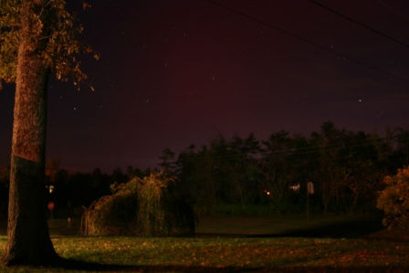 Larry W. Smith took this photo of the aurora borealis from Echols, Ky., on Oct. 24, 2011.