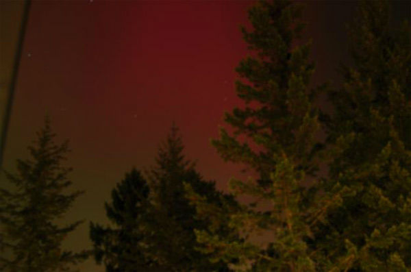 Matti Aladin took this photo of the aurora borealis from Helsinki, Finland, on Oct. 24, 2011.