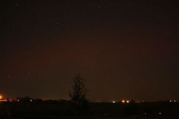 Ricky Steele took this photo of the aurora borealis from Edmond, Oklahoma, on Oct. 24, 2011.