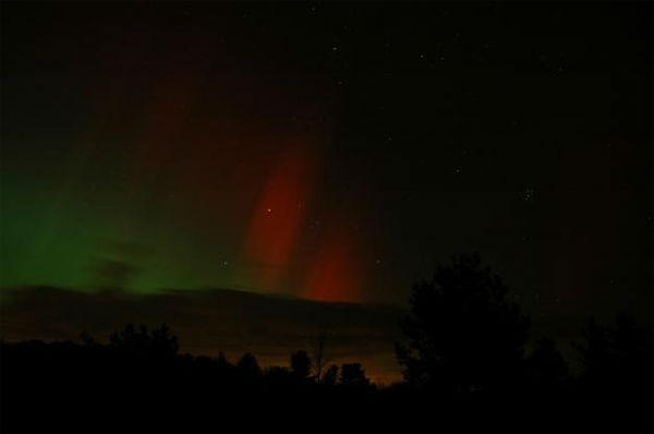 Tom Pruzenski took this photo of the aurora borealis from Hemlock, New York, on Oct. 24, 2011.