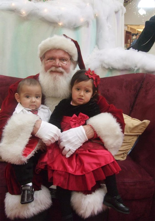 ABC7 viewer Mariann Caton posted this photo to the ABC7 Facebook wall of her grandchildren, Priseis and Abel Pena, with Santa Claus.  Post your own photo, and don&#39;t forget to tag yourself. Your photo may be used on Eyewitness News! <span class=meta>(KABC Photo&#47; ABC7 viewer Mariann Caton)</span>