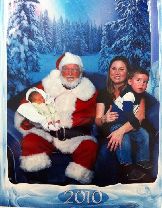 "<div class=""meta ""><span class=""caption-text "">ABC7 viewer Mary Brennan Wilson posted this photo to the ABC7 Facebook wall of her two kids with Santa Claus.  Post your own photo, and don't forget to tag yourself. Your photo may be used on Eyewitness News! (KABC Photo/ ABC7 viewer Mary Brennan Wilson)</span></div>"