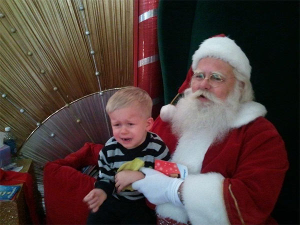ABC7 viewer Donna Cunningham posted this photo to the ABC7 Facebook wall of her grandson Bradley with Santa Claus.  Post your own photo, and don&#39;t forget to tag yourself. Your photo may be used on Eyewitness News! <span class=meta>(KABC Photo&#47; ABC7 viewer Donna Cunningham)</span>